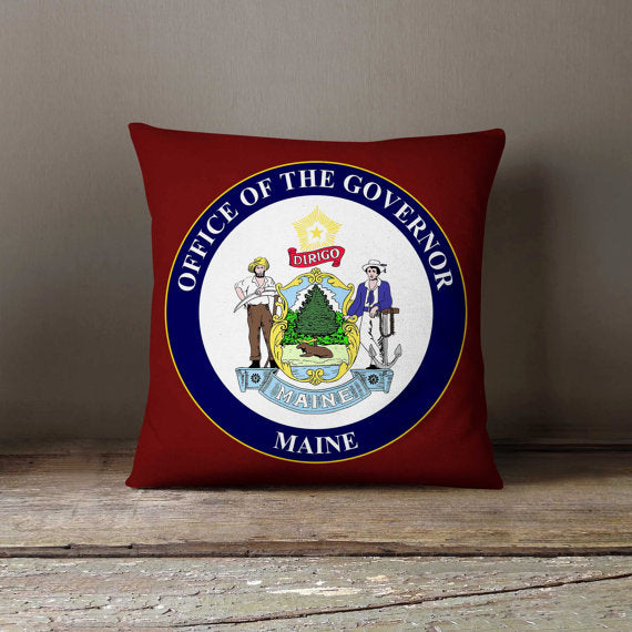 Maine State Flag Pillowcase