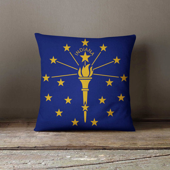 Indiana State Flag Pillowcase