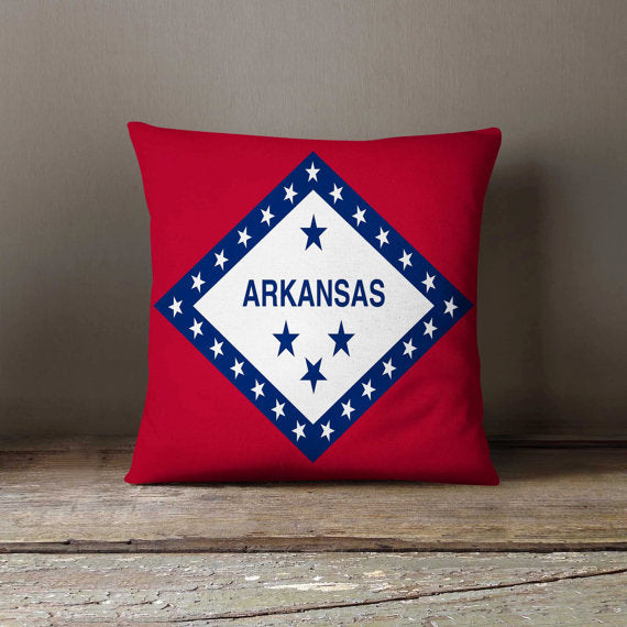Arkansas State Flag Pillowcase