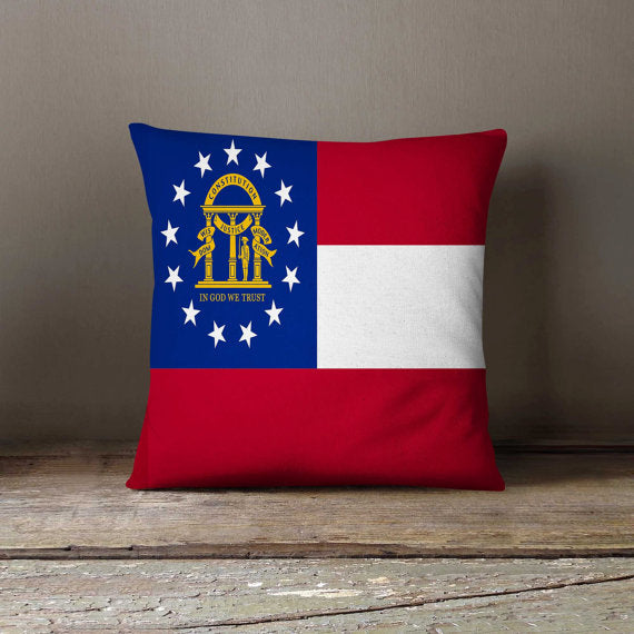 Georgia State Flag Pillowcase