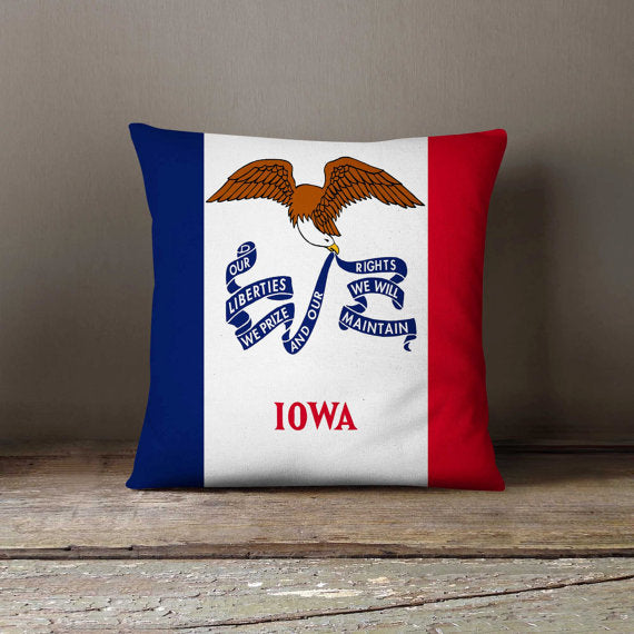 Iowa State Flag Pillowcase