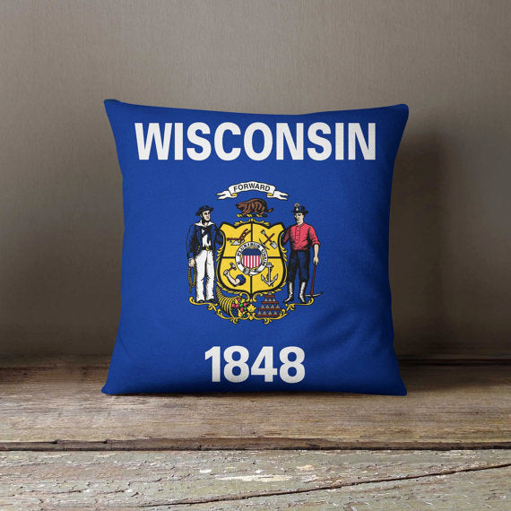 Wisconsin State Pillowcase Wisconsin Flag Home