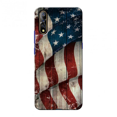 USA Flag - Vintage Wooden Texture Slim Hard Shell