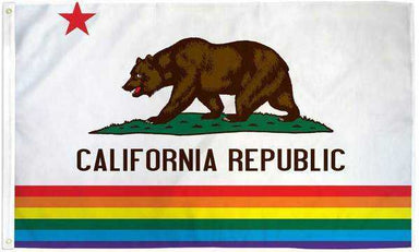 California Rainbow Pride Flag Polyester