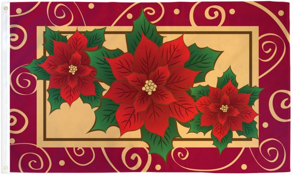 Poinsettias Flag
