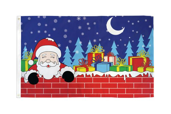 Christmas Eve Santa Flag