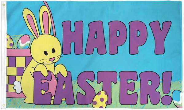 Happy Easter Flag Polyester | Flag Store
