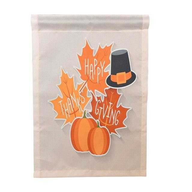 Happy Thanksgiving Garden Flags Polyester Home