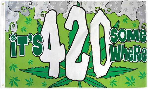 420 Marijuana Party Flag Polyester