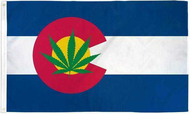 Colorado Marijuana Leaf Flag Polyester