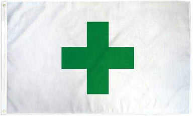 Marijuana Cross Flag Polyester