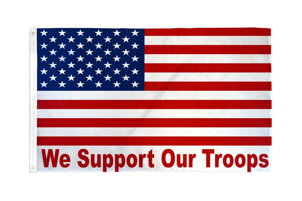 USA - We Support Our Troops Flag