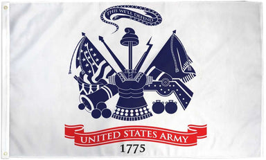 US Army White Nylon Flag