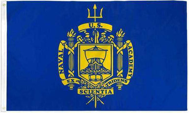 US Naval Academy Crest Flag Polyester