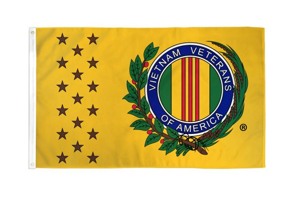 Vietnam War Veteran Flag (Yellow)
