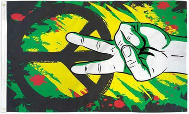 Graffiti Peace Flag Polyester