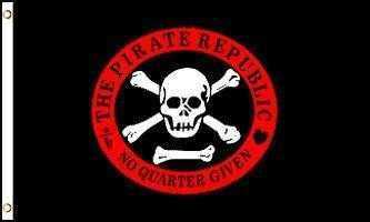 Pirate Republic Flag Polyester