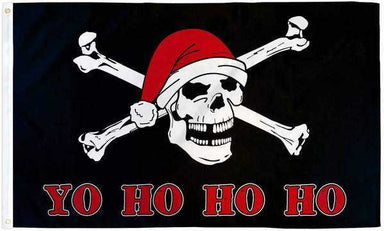 Santa Pirate Flag Polyester