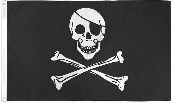 Skull and Bones Pirate Flag Polyester | Flags Importer