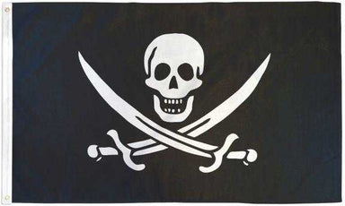 Skull with Two Swords Pirate Flag