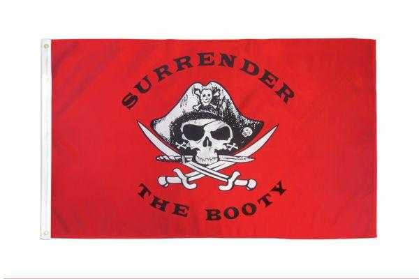 Surrender the Booty Pirate Flag