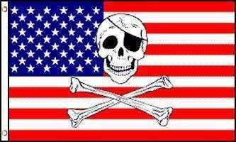Pirate US Flag Polyester