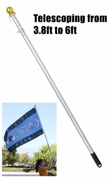 6ft Hand Held Aluminum Pole
