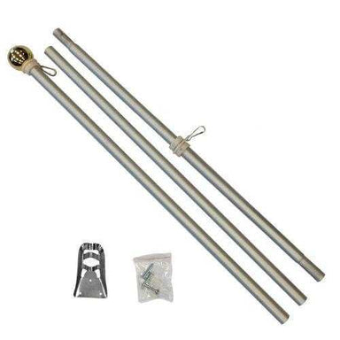 6ft Aluminum Flag Pole (With Eagle or Ball Top)
