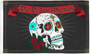 Day of the Dead Flag Polyester