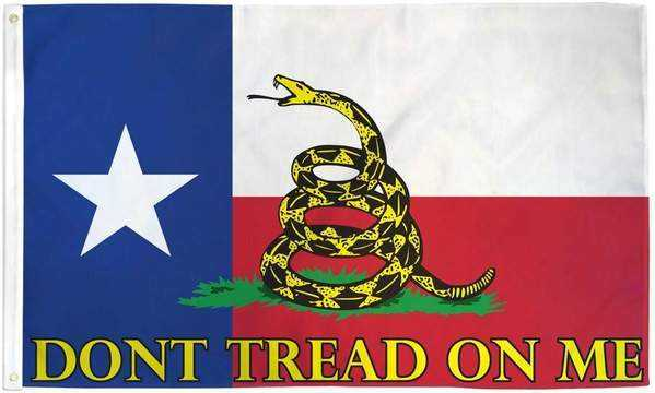 Texas Dont Tread On Me Flag Polyester
