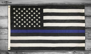 US Flag Thin Blue Line Vintage