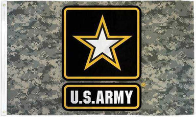 US Army Camouflage Star Flag Polyester