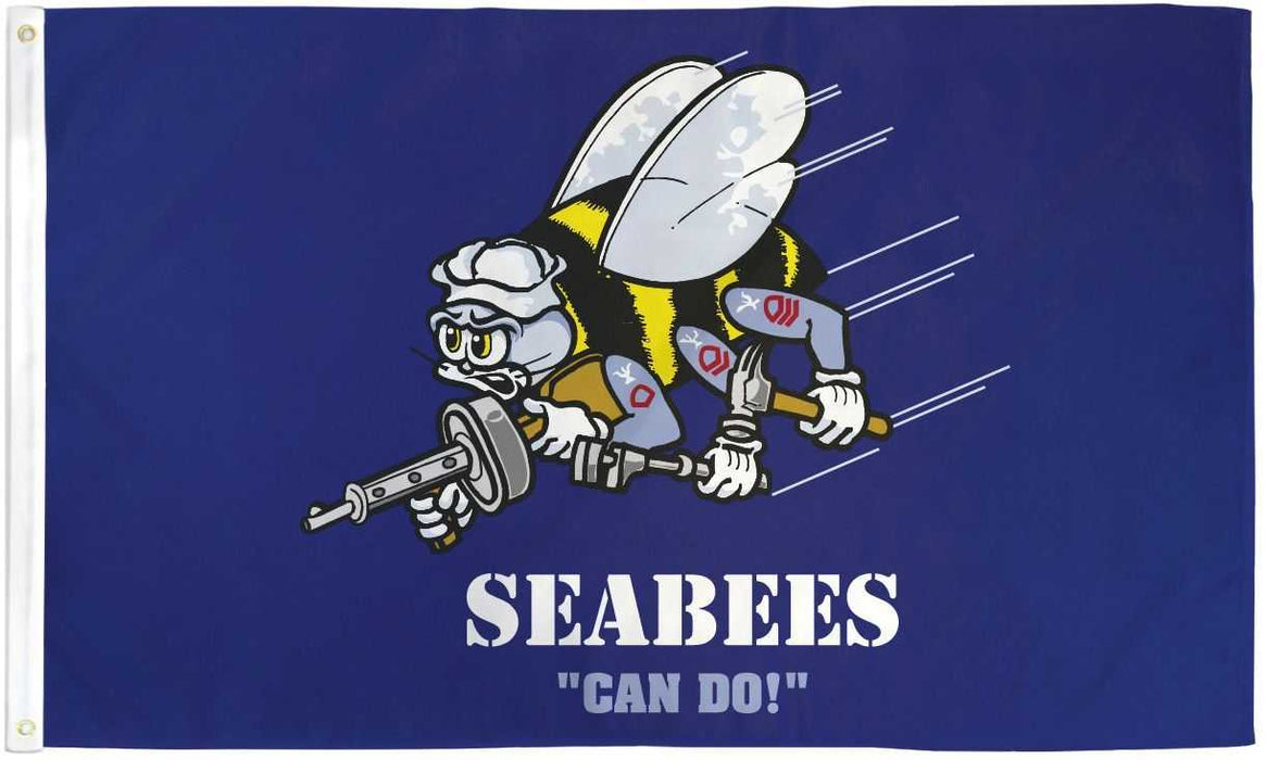 US Military SeaBees -Can Do Flag!
