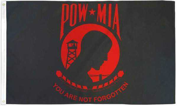 US National League of Families POW/MIA Red Flag Polyester
