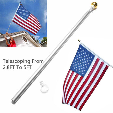 Aluminum 2.8 to 5ft Expandable Flag Pole
