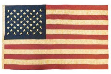 US Flag Tea Stain Vintage