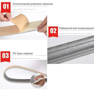 Self-adhesive Three-dimensional Wall Edging Strip (7.55 feet)