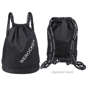 Wet And Dry Drawstring Backpack with Shoe Box