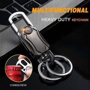 Multifunctional Heavy Duty Keychain Corkscrew