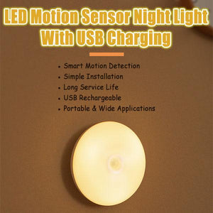 LED Motion Sensor Night Light With USB Charging