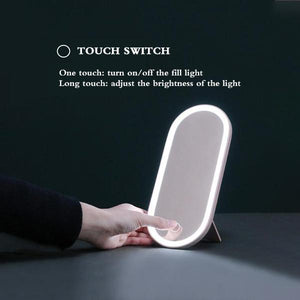 One-piece Multi-function Led Makeup Mirror Portable Dressing Table