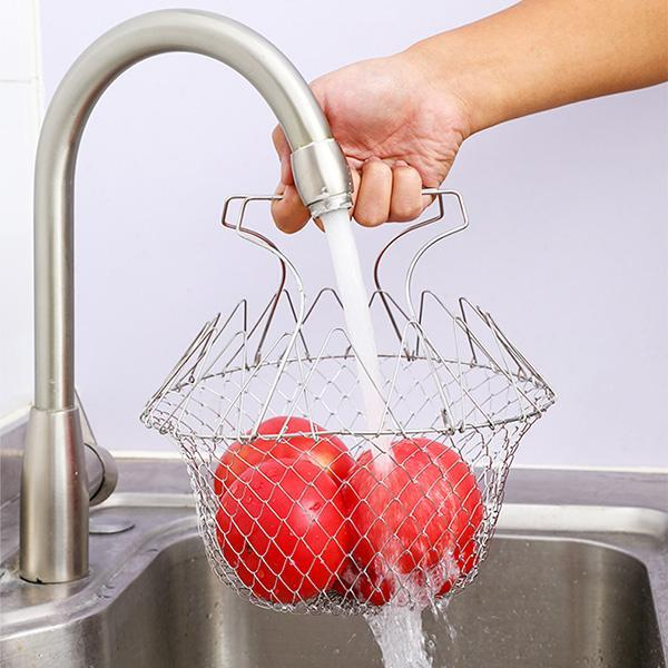 Multi-Function Foldable Frying Basket