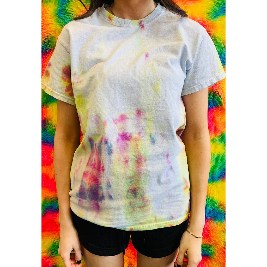 Vintage Tie Dye T-Shirt Small Rainbow