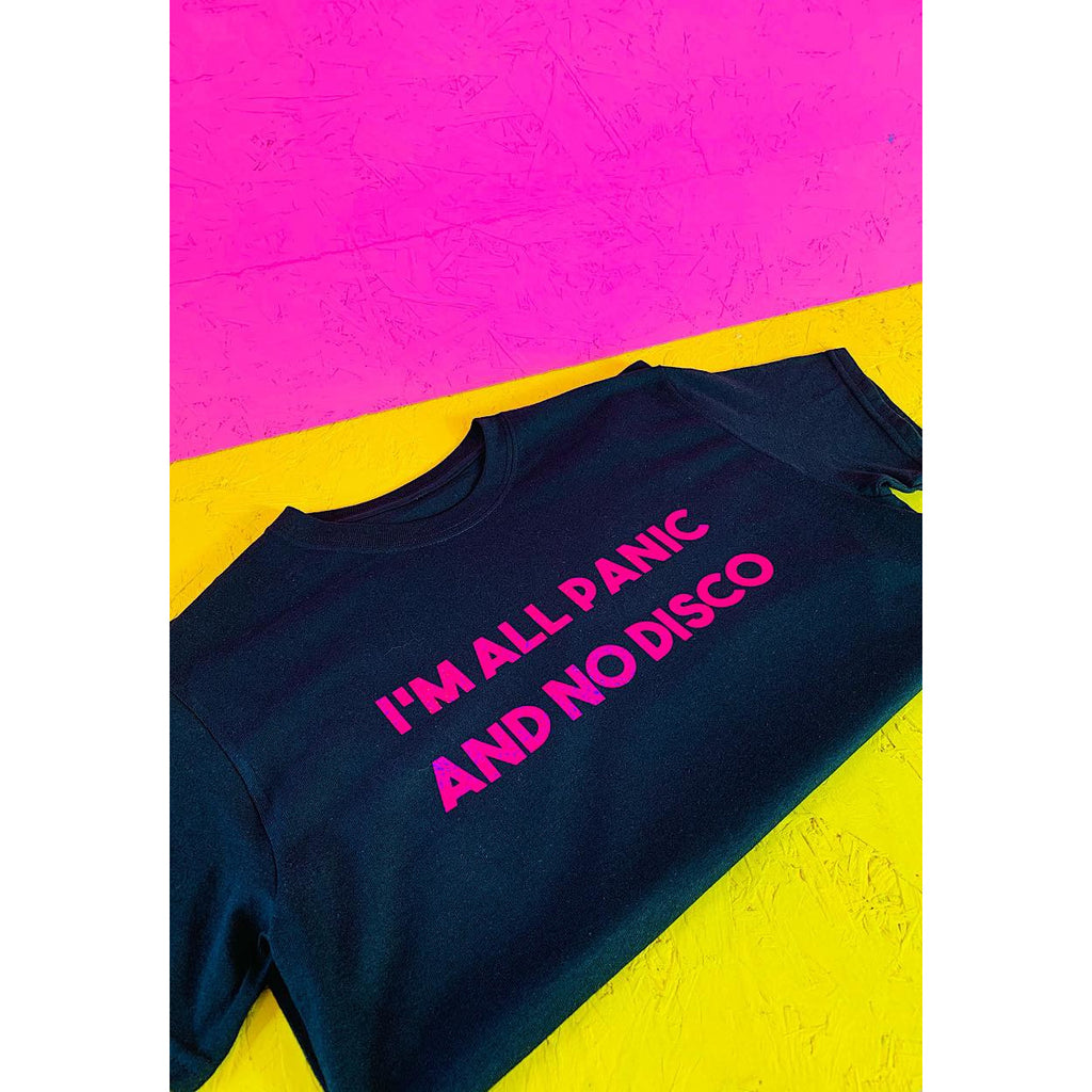 I'm all Panic and No Disco T-shirt Pink Holo