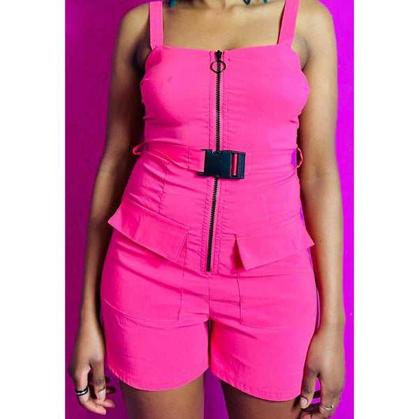 Pandora Pink Buckle Playsuit