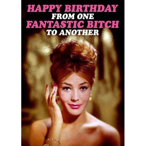 Happy Birthday From One Fantastic Bitch Funny Birthday Card