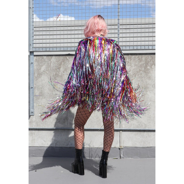 Rainbow Cascade Tinsel Jacket (Made to Order)