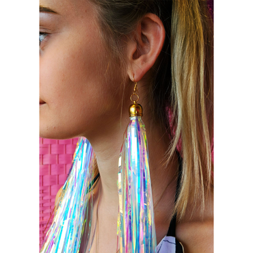 Prismatic Earrings Shoulder Length