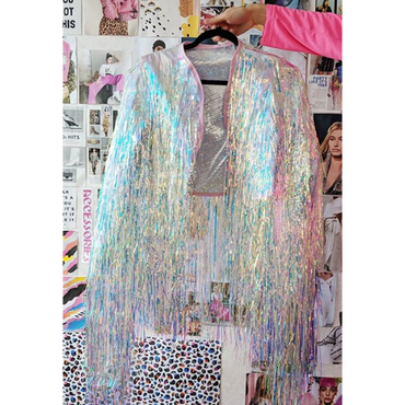 Unicorn Cascade Iridescent Tinsel Jacket
