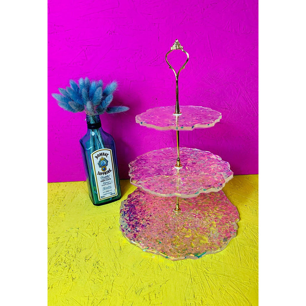 Prismatic 3 Tier Resin Cake Stand (1 week Pre-Order)